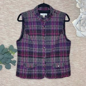 [christopher & banks] Quilted Plaid Vest